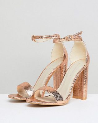 Rose Gold Barely Sandals