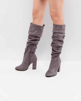 Lipsy Ruched High Leg Boot